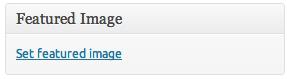 Wordpress Set Featured Image